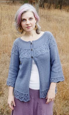 This is Lorinda the Cardigan. Everyone who knows me knows that I have a real passion for cardigans. She's on my short list to knit!