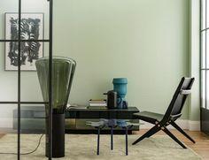 wohnzimmer modern grün hell decke dunkle farbe | interieurs ...