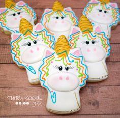 Unicorn flooded cookie JillFCS