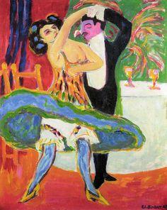 Ernst Ludwig Kirchner - Variete,1910 at Frankfurt Städel Art Museum