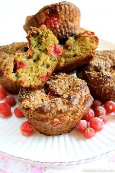 Muffins { vegan } avocat & groseilles pour la Bataille Food #27 • Avocado & red currant vegan muffins
