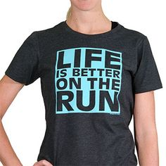 If you believe that life is better on the run, literally and figuratively, then you will love our Life Is Better On the Run tee. Our super soft cotton blend shirts are a fun, fashionable way to show off your love for running.
