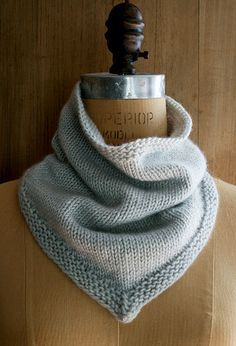 New Cashmere Bandana Cowl | Find the free pattern right here… | Flickr