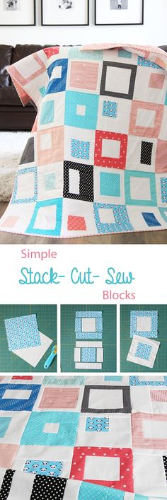 Stack, Cut, and Sew Block Square Sizes