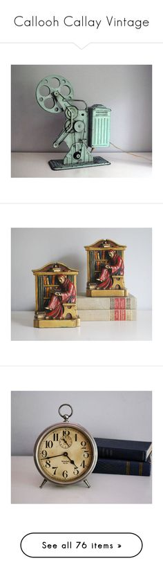 """Callooh Callay Vintage"" by calloohcallay-vintage on Polyvore featuring home, home decor, clocks, tower clock, big ben clock, westclox, westclox alarm clock, photo clock, men's fashion and men's accessories"