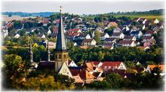 the Churches in Southern Germany are always the center of the little towns