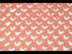 (559) Punto de arcos y picos a crochet muy facil y rapido - YouTube