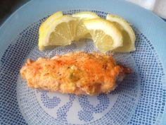 Involtini di salmone fresco in panatura di limone, pangrattato e timo