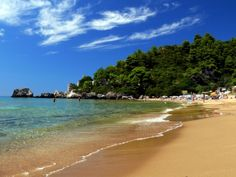 Corfu Glyfada beach.. Learn more about Glyfada Corfu at  http://www.corfu2travel.com/en/glyfada-corfu.asp