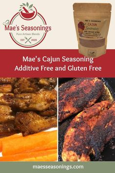 This Cajun Seasoning is a blend of spices including paprika, garlic, & cayenne to name a few. Our Cajun Seasoning also doubles as a quality meat rub for the BBQ enthusiast seeking that down south flavour. It's an essential seasoning for gumbo, jambalaya, and blackened chicken and salmon. Mae's Cajun Seasoning explodes with epic flavours. Eliminate the guesswork and choose Mae's Cajun Seasoning spice combination that is made with no artificial preservatives. Louisiana Recipes, Southern Recipes, Salmon Recipes, Chicken Recipes, Spice Combinations, Meat Rubs, Blackened Chicken, Natural Spice, Cajun Cooking