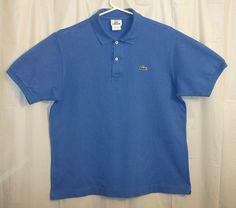 Lacoste Polo Shirt Mens Sz 5 Medium M Blue