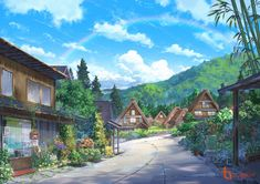 The nature of anime Anime Backgrounds Wallpapers, Anime Scenery Wallpaper, Episode Backgrounds, Scenery Background, Background Pictures, Fantasy Landscape, Landscape Art, Anime Places, Art Station