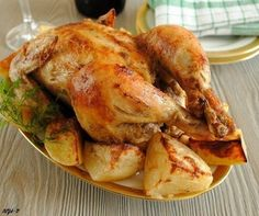 Chicken baked with potatoes / Chief-Cooker