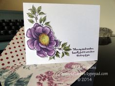 Stampin' Up! Bloom with Hope colored in with SU! Blendabilities alcohol markers