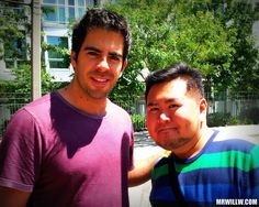 Eli Roth and me.