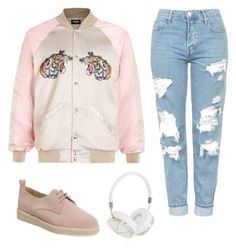 """want pink bomber"" by christinasun on Polyvore featuring KMB, Topshop and Frends"