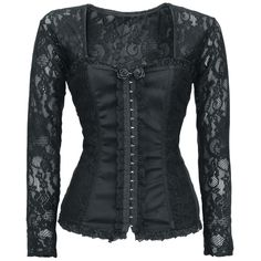 The Victoria Top of Alcatraz makes you look awesome - promised! The top consists of elastic lace, which is a real eye-catcher. The small black roses make it a perfect top. On the front of the top is a hook- ...