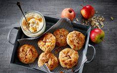 Små æbletærter med ingefær og saltkaramel