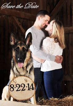 Rustic Dog Save the Date