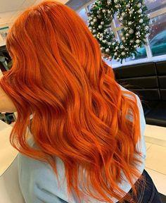 Orange Hair Bright, Orange Brown Hair, Bright Copper Hair, Orange Ombre Hair, Redken Hair Products, Ginger Hair Color, No Bad Days, Aesthetic Hair, Grunge Hair