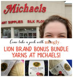Lion Brand Bonus Bundle Yarn at Michaels - get a look inside on Moogly! #MakeItWithMichaels #LionBrandYarn #LionBrand