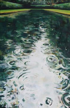 """'Reflection Pool II' Kelly Johnston water soluble oil on canvas 20""""x 30"""""""