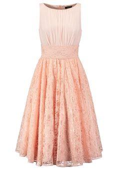 Brautjungfernkleid kurz rosa spitze