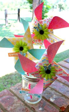 DIY Summer Fun Pinwheels