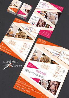 Carte de visite, flyer, affiche, salon de coiffure