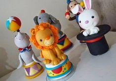 Festejar Comemorações Personalizadas: Peças Circo Personagens de Biscuit