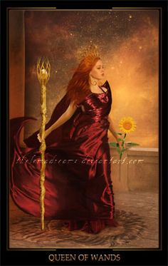 Queen of Wands by ThelemaDreamsArt on DeviantArt