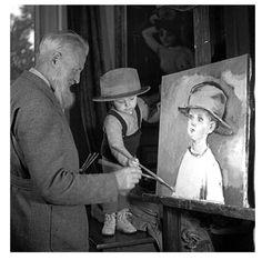 Kees Van Dongen and his son  1944  Séeberger