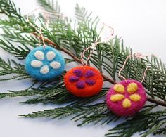 Felted Old Fashioned Ornaments on Etsy, $15.00