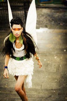 Tinkerbell... Peterpan..Fashion editorial for modaCYCLE Deutsche Ausgabe International Fashion. Photo: Fábio Abú.