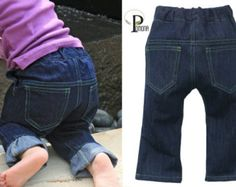 Cloth Diaper Pants Indigo Denim Jeans for Cloth by ProjectPomona