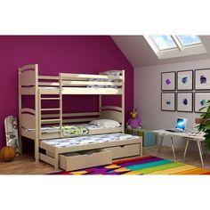 Dětská patrová postel s výsuvnou přistýlkou z MASIVU bez šuplíku - PV003 Bunk Beds, Furniture, Home Decor, Bed, Decoration Home, Loft Beds, Room Decor, Home Furnishings, Home Interior Design