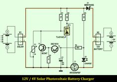 outdoor garden solar lights circuit schematic. All for
