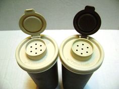Vintage Tupperware Salt and Pepper Shakers 6 Pieces by junquegypsy, $11.20