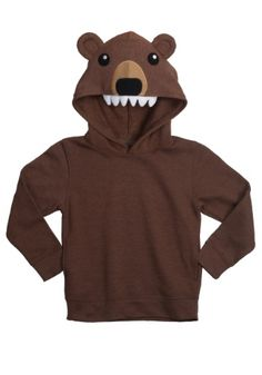 Bears like to get pretty wild. We can't assure you that you tot will stay tame when he's in this hoodie, but at least he'll look ridiculously cute!