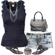 Summer Short Outfit- everything but the bag. Summer Shorts Outfits, Preppy Outfits, Short Outfits, Spring Outfits, Cute Outfits, Fashion Outfits, Womens Fashion, Summer Clothes, Mom Fashion