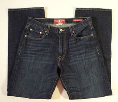 Mens Size 31x32 Lucky Brand 181 Relaxed Straight Dark Wash Jeans VGC