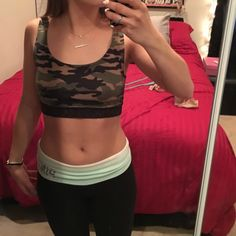 Staring at Stars Tops - Camo and lace bralette, Urban Outfitters