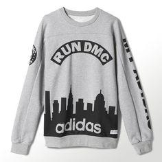 Adidas RUN DMC 80s Graphic Crewneck Sweatshirt  RARE #Adidas #Crewneck