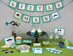 Little Man - Mustache Birthday Party Collection by PartyPrintables2go, $15.00