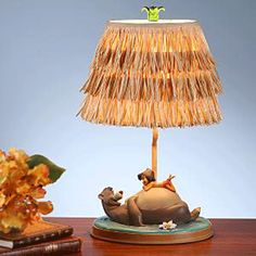Disney Baloo and Mowgli's Jungle Book Collectors Lamp Nursery Crafts, Nursery Themes, Nursery Ideas, Bedroom Ideas, Disney Rooms, Disney Nursery, Jungle Book Nursery, Disney Lamp, Baby Joey