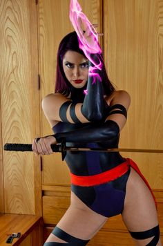 Psylocke cosplay check out www.comicaddictz.com for more !!