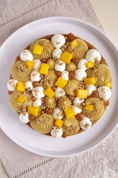 Mango, caramel, Biscoff and mascarpone whipped cream tart | I Love Cakes