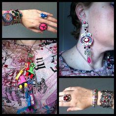 Pink clocks and graffiti. Top from Kmart, Jewel Divas necklace