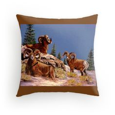 """""""We Three Kings"""" Just posted! Check out my growing collection of Custom Designed pillows!"""