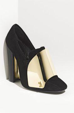 I don't even like Loafers... but I DIE for YSL!!! Yves Saint Laurent 'Shield' Loafer Pump | Nordstrom
